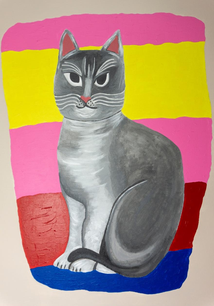 cuadro gato